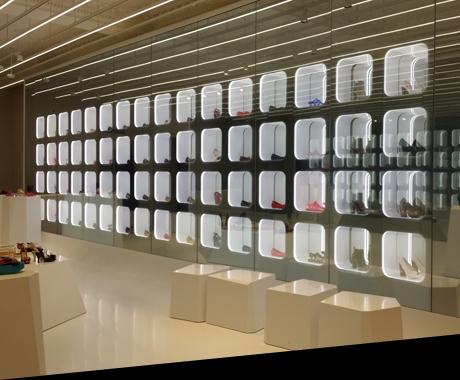 Led light sheet illuminated store concept retail for Interior design lighting specialist
