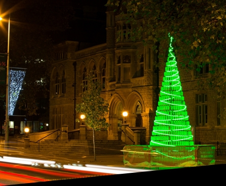 Ealing Council's sustainable Christmas tree shows a lotta bottle