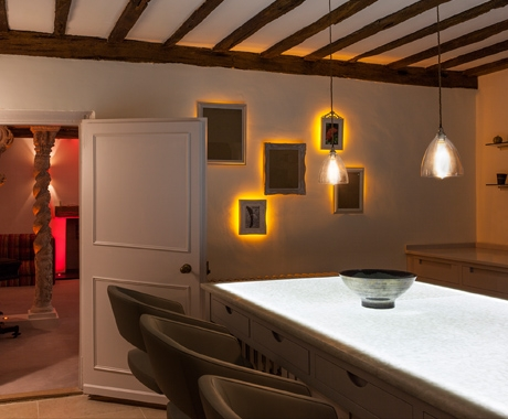 LED Light Sheet used in Grade II listed manor house.